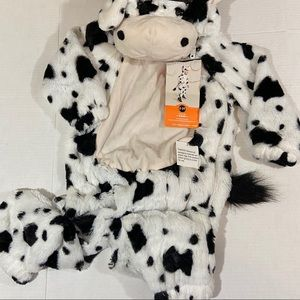Toddler plush cow costume